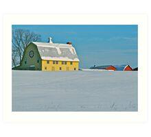 Farley Vale Barn Art Print