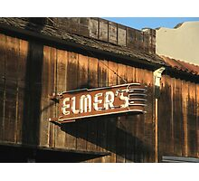 """"""" Elmer's Old Time Saloon """"  The Real Deal Photographic Print"""