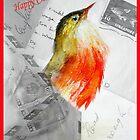 Christmas Robin by Angela  Burman