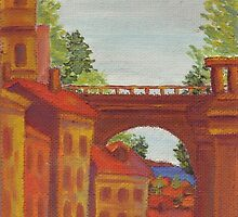 Old Odessa City oil painting by Vitaliy Gonikman