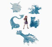 Lorelei and her pokemon (elemental) by SylVaren