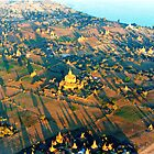 Bagan from Above © by Ethna Gillespie