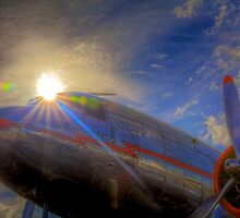 Into the Sun -- Vintage DC-3 by njordphoto