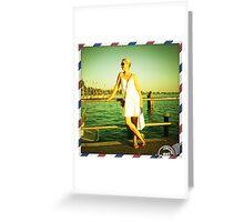 Mia moglie a Sirmione Greeting Card