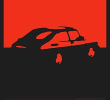 Saab 900, 1990 - Red on charcoal by uncannydrive