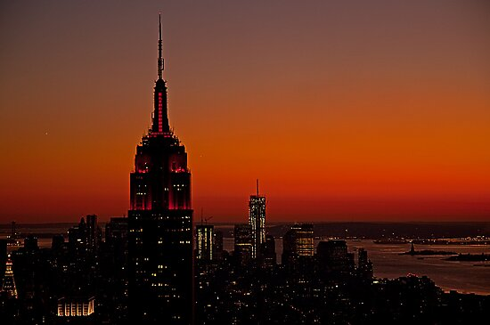 Manhattan Sunset by JMChown