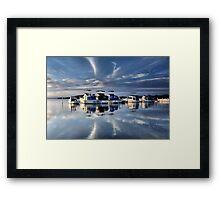 Blue Afternoon - Swansea NSW Australia Framed Print