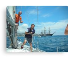 To my nephew Roger. To all those who love sailing. Velisti non solo per caso. S.TROPEZ-Francia.-- 5000 visualizzaz settembre  2013-RB EXPLORE 22 DICEMBRE 2011.... Canvas Print