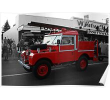 Land Rover Fire Engine Poster