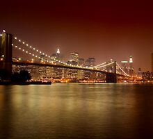 Brooklyn Bridge at Night by BlackRussian