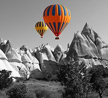 Hot Air Balloons Over Capadoccia Turkey - 5 by Paul Williams