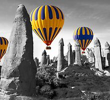 Hot Air Balloons Over Capadoccia Turkey - 8 by Paul Williams