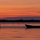 Sunset Boat by Gert Lavsen