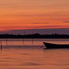 Sunset Boat by Gert Lavsen