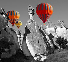 Hot Air Balloons Over Capadoccia Turkey - 11 by Paul Williams