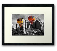 Hot Air Balloons Over Capadoccia Turkey - 12 Framed Print
