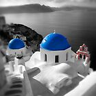 'Blue Domes' - Greek Orthodox Churches of the Greek Cyclades Islands - 9 by Paul Williams