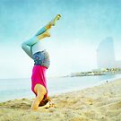 Yoga in the beach, Barcelona by Wari Om  Yoga Photography