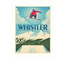"""Snowboard Booter"" Whistler, BC Travel Poster Art Print"
