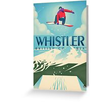 """""""Snowboard Booter"""" Whistler, BC Travel Poster Greeting Card"""