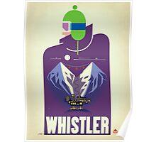 """""""Full Moon"""" Whistler, BC Travel Poster Poster"""