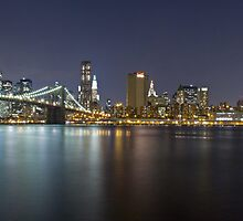 Manhattan At Night Panorama 2 by BlackRussian