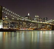 Brooklyn Bridge at Night Panorama 1 by BlackRussian