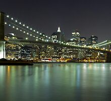Brooklyn Bridge at Night Panorama 4 by BlackRussian