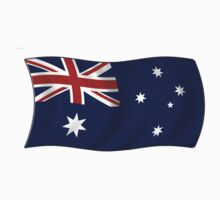 Flag of Australia in wave by nadil