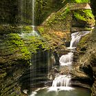 Watkins Glen Waterfalls Cascade by Anthony L Sacco