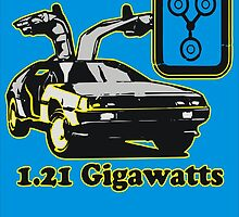 "1.21 Gigawatts "" Back to the Future ""  by BUB THE ZOMBIE"
