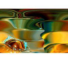 spirals & the water drop Photographic Print