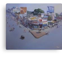 VARIETY SQUARE, NAGPUR.. acrylic on canvas  Canvas Print
