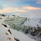 Golden Waterfall - Gullfoss by Llewellyn Cass