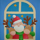 Santa and his reindeer by Koekelijn