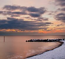 snowy west bay,  by Daniel  Bristow