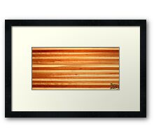 Piano Key Coffee Table Landscape Framed Print