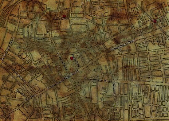 Altered, Whitechapel Map I by Cameron Hampton
