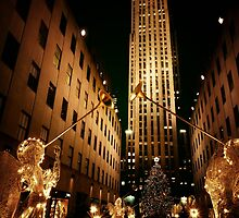 Rockefeller Center Christmas Tree and Angels by Vivienne Gucwa