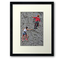 Child Exploration Framed Print