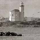 Vintage Bandon Lighthouse by Diane Schuster