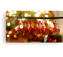 Won't you guide my sleigh tonight? Canvas Print