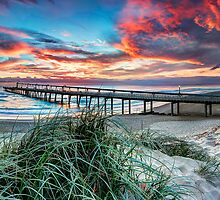 Fire in the Sky - Panorama by Maxwell Campbell