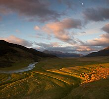 Oreti Valley Sunset  by Ben Rae