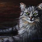 Pastel Painting - Cat Portrait by Sue Deutscher