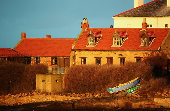 Sunset on the Lighthouse Cottage by John Dunbar