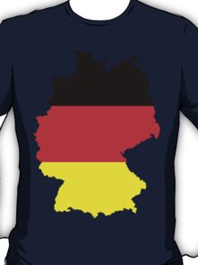 Germany Flag and Map T-Shirt