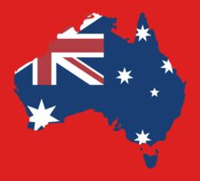 Australia Flag and Map Kids Clothes