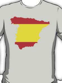 Spain Flag and Map T-Shirt