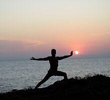 Yoga 7 by the beach, Mallorca by Wari Om  Yoga Photography